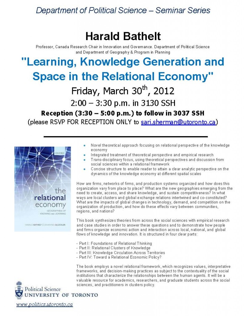 The Relational Economy: Geographies of Knowing and Learning