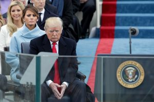 WASHINGTON, DC - JANUARY 20:  President Elect Donald Trump sits on the West Front of the U.S. Capitol on January 20, 2017 in Washington, DC. In today's inauguration ceremony Donald J. Trump becomes the 45th president of the United States.  (Photo by Alex Wong/Getty Images)